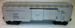 Lionel Postwar Rare Ribbed Roof Type 1a 6464-1 Western Pacific Boxcar Very Good