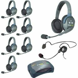 Eartec Hub9dcyb Ultralite And Hub 9 Person System With 8 Double 1 Cyber Headset