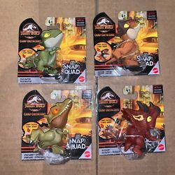 Jurassic World Camp Cretaceous Snap Squad Wave 9 Triceratops Full Set Of 4 2021