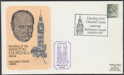 1973 Unveiling Of The Winston Churchill Statue Shs Westminster Abbey Cachet