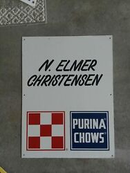 Vintage Personalized Purina Chows Metal Sign
