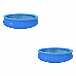 Jleisure 15ft X 36 Prompt Set Inflatable Outdoor Backyard Swimming Pool2 Pack