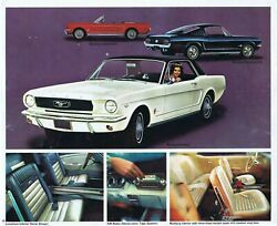 Ford 1966 Ford Mustang Brochure 24x36 Inch Poster
