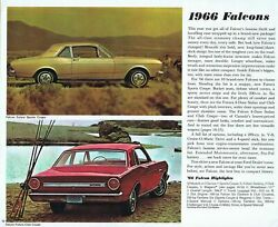 Ford 1966 Ford Falcon Brochure 24x36 Inch Poster