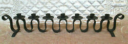 Vtg Antique Wrought Iron Candle Holder Fireplace Mantel Tabletop Centerpiece 18