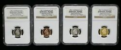 Set Of 4 1861 Confederate Cent Smithsonian Restrike Ngc Gem Proofs - 08148