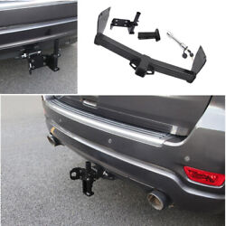 For Jeep Grand Cherokee 2011-2021 Black Rear Bumper Trailer Tow Hitch Hook 1set