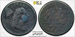 1794 Flowing Hair Large Cent Pcgs Genuine Vg Detail - 08223