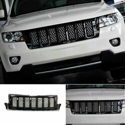For 2011-2013 Jeep Grand Cherokee Black Front Center Mesh Grille Grill Trim 1pcs