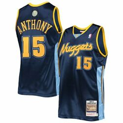 Denver Nuggets Carmelo Anthony 15 Mitchell And Ness Nba 2006-07 Authentic Jersey