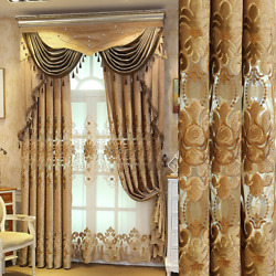 Curtain For Living Room Villa High-end Shading Embroidered Valance Curtain Tulle