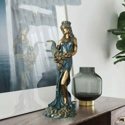 Greek Goddess Luck Blind Lady Wealth Resin Statue Home Dandeacutecor Collectible Gift
