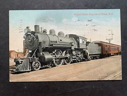 And03907 Utica Ny Empire State Express Railroad Postcard Machine Cancels Gloversville