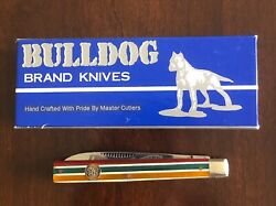 Bulldog Brand Solingen 1996 Physician#x27;s Pocket Knife Candy Striped Never Used