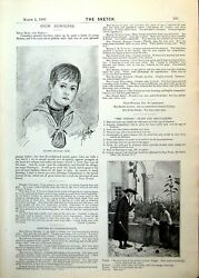 Antique Old Print Drawing Master Stanley Cook Juniors Page Boys Oranges 1893