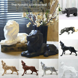 Nordic Style Lion Wolf Totem Leopard Animal Ornaments Cabinet Home Crafts Decor