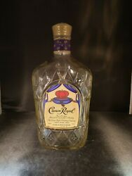 Crown Royal Glass Display Bottle With Plastic Seal