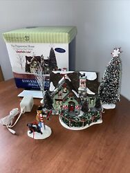 Euc Dept 56 The Peppermint House Snow Village Coll. Christmas Lane Lighted