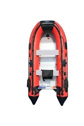Boatify 12.5ft Inflatable Boat Raft Fishing Dinghy Boat With Aluminum Floor-red