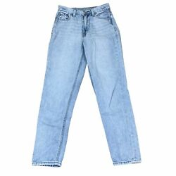 American Eagle Mom Jeans Size 0 Light Wash Distressed