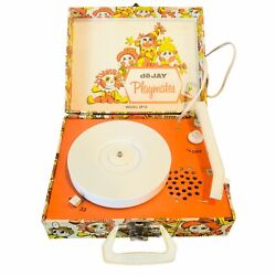 Vintage Vhtf Retro Dejay Playmates Sp12 Childrens Record Player Plays 33s And 45s
