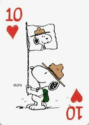 Snoopy Scout Leader Single Swap Playing Card 10 of Hearts