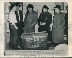 1950 Press Photo Thomas B. Lloyd Questioned By Police About The Million Dollar