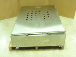 189812 Used Hoffman A48h3610ss6lp Stainless Steel Enclosure 48x36x10