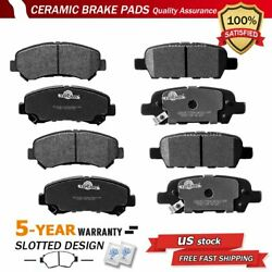 Front And Rear Disc Ceramic Brake Pads For 2008-2013 Nissan Rogue