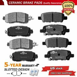 Front And Rear Disc Ceramic Brake Pads For 2013-2018 Nissan Altima