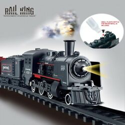 Electric Train Toy Railway And Tracks Steam Engine Diecast Model 2021 New - Sale