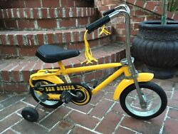 Vintage Sears Sun Duster No Brakes Toddler Kids Bike Bicycle Yellow Collectible