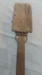 Antique Wooden Wool Keeper ,yarn,hand Carved 80 Cm Long