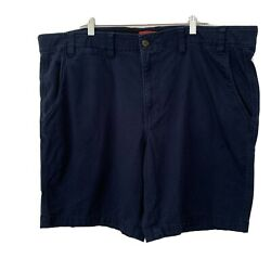 The Foundry Young Men#x27;s Navy Flex Flat Front Shorts Size 48