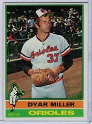 1976 Topps 555 Dyar Miller In Ex Condition Orioles