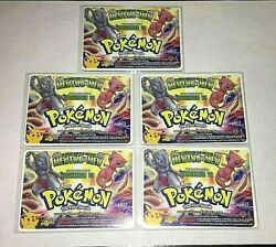 Pokemon The First Movie 1999 Original Set Of 5 Lenticular Motion Cards