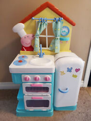 Peppa Pig's Deluxe Feature Roleplay Little Play Kitchen 37 In Tall Children Toy