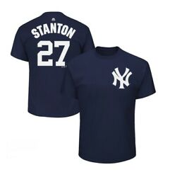 Giancarlo Stanton 27 New York Yankees Majestic Menand039s Navy Name And Number T-shirt
