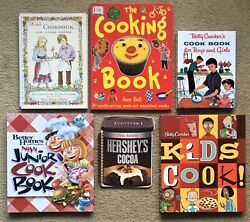 Lot Of 6 Children's Cookbooks For Young People. Betty Crocker, Better Homes, +
