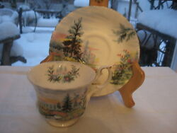 One Cup And Saucer Royal Albert Country Scenes Dovedale Blue