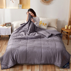 Cotton Summer Wash Air Conditioner Thin Quilt Bedspread For Sofa Office Airplane