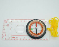 Compass Base Plate Ruler Map Scale Compass Water Resistant Plastic Made Outdoor