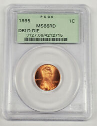 1995 Double Die One Cent Pcgs Ms66 Rd Ogh