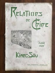 China Old Book 92 Pages Mission Kiang Sou Hangchow Shanghai Red Cross 1925