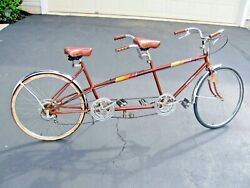 Vintage 1970and039s Columbia Tandem Bike / Bicycle - Two Seats - 26 Inch - Rare