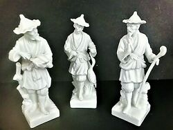 Fitz And Floyd Porcelain Figurines/lot Of 3