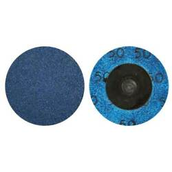 Norton 66261121044 1-1/2 In. Bluefire Coated Quick-change Discs 80 Grit 100 Pack