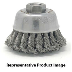 United Abrasives 03419 2-3/4x5/8-11 Stainless Steel Small Cup Brush Knot 6 Pack