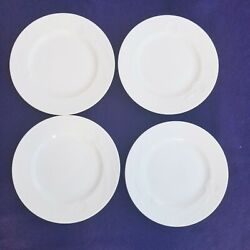 """Lot Of 4 Mikasa Classic Flair White 8"""" Salad Plates K1991 More Pieces Available"""