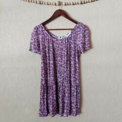 Uo Coincidence And Chance Floral Mini Dress Small